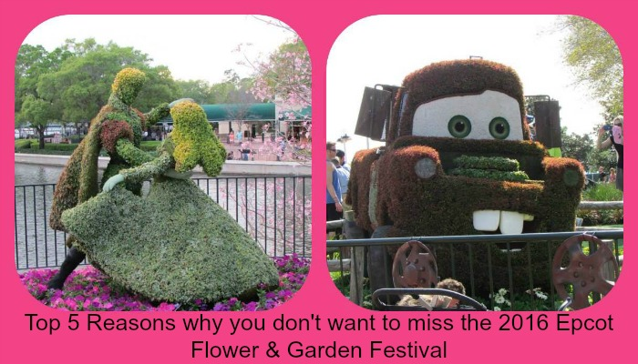 Top 5 Reasons why you don't want to miss the 2016 Epcot Flower & Garden Festival