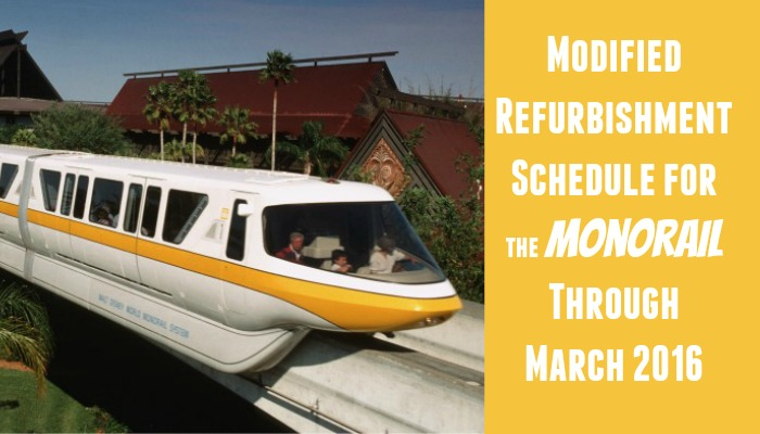 Monorail Will Be Running on Modified Schedule Through March