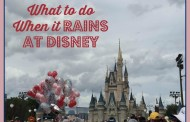 What to do When it Rains at Disney