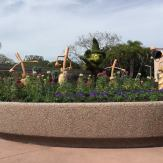 Sorcerer Mickey is hard at work keeping EPCOT tidy.