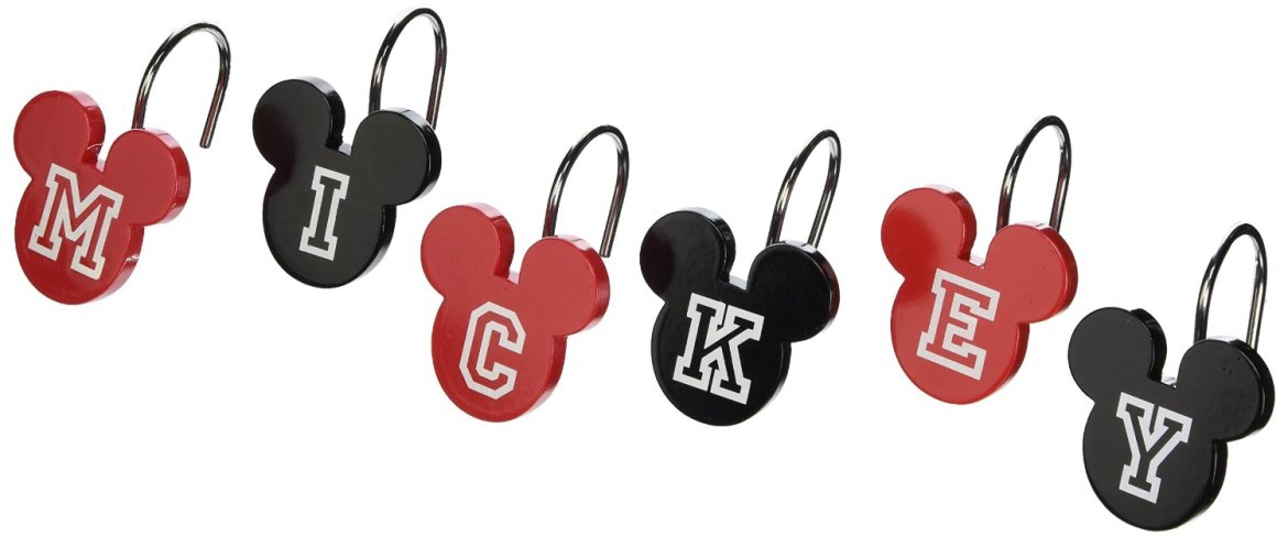 Fun Shower Hooks for a Perfectly Disney Themed Bathroom