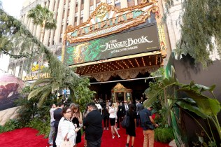 """HOLLYWOOD, CALIFORNIA - APRIL 04: A view of the red carpet for The World Premiere of Disney's """"THE JUNGLE BOOK"""" at the El Capitan Theatre on April 4, 2016 in Hollywood, California. (Photo by Jesse Grant/Getty Images for Disney)"""
