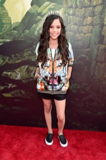 """HOLLYWOOD, CALIFORNIA - APRIL 04: Actress Jenna Ortega attends The World Premiere of Disney's """"THE JUNGLE BOOK"""" at the El Capitan Theatre on April 4, 2016 in Hollywood, California. (Photo by Alberto E. Rodriguez/Getty Images for Disney) *** Local Caption *** Jenna Ortega"""