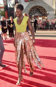 """HOLLYWOOD, CALIFORNIA - APRIL 04: Actress Lupita Nyong'o attends The World Premiere of Disney's """"THE JUNGLE BOOK"""" at the El Capitan Theatre on April 4, 2016 in Hollywood, California. (Photo by Alberto E. Rodriguez/Getty Images for Disney) *** Local Caption *** Lupita Nyong'o"""