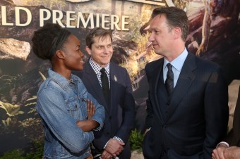 """HOLLYWOOD, CALIFORNIA - APRIL 04: (L-R) Actress Lupita Nyong'o, EVP Production, The Walt Disney Company, Sam Dickerman and President of Walt Disney Studios Motion Picture Production, Sean Bailey attend The World Premiere of Disney's """"THE JUNGLE BOOK"""" at the El Capitan Theatre on April 4, 2016 in Hollywood, California. (Photo by Jesse Grant/Getty Images for Disney) *** Local Caption *** Sam Dickerman; Sean Bailey; Lupita Nyong'o"""