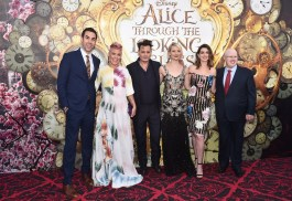 HOLLYWOOD, CA - MAY 23: (L-R) Actor Sacha Baron Cohen, singer-songwriter P!nk, actors Johnny Depp, Mia Wasikowska, Anne Hathaway and Matt Lucas attend Disney's 'Alice Through the Looking Glass' premiere with the cast of the film, which included Johnny Depp, Anne Hathaway, Mia Wasikowska and Sacha Baron Cohen at the El Capitan Theatre on May 23, 2016 in Hollywood, California. (Photo by Alberto E. Rodriguez/Getty Images for Disney) *** Local Caption *** Sacha Baron Cohen; Alecia Beth Moore; Johnny Depp; Mia Wasikowska; Anne Hathaway; Matt Lucas