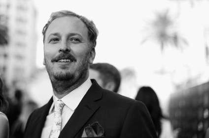 HOLLYWOOD, CA - MAY 23: (EDITORS NOTE: Image has been shot in black and white. Color version not available.) Director James Bobin attends Disney's 'Alice Through the Looking Glass' premiere with the cast of the film, which included Johnny Depp, Anne Hathaway, Mia Wasikowska and Sacha Baron Cohen at the El Capitan Theatre on May 23, 2016 in Hollywood, California. (Photo by Charley Gallay/Getty Images for Disney) *** Local Caption *** James Bobin