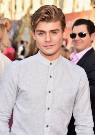 HOLLYWOOD, CA - MAY 23: Actor Garrett Clayton attends Disney's 'Alice Through the Looking Glass' premiere with the cast of the film, which included Johnny Depp, Anne Hathaway, Mia Wasikowska and Sacha Baron Cohen at the El Capitan Theatre on May 23, 2016 in Hollywood, California. (Photo by Alberto E. Rodriguez/Getty Images for Disney) *** Local Caption *** Garrett Clayton