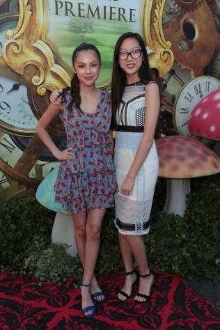 """Olivia Rodrigo and Madison Hu pose together at The US Premiere of Disney's """"Alice Through the Looking Glass"""" at the El Capitan Theater in Los Angeles, CA on Monday, May 23, 2016. .(Photo: Alex J. Berliner/ABImages)"""