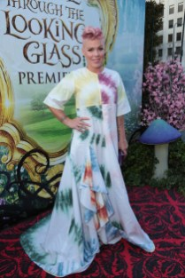 """Pink poses at The US Premiere of Disney's """"Alice Through the Looking Glass"""" at the El Capitan Theater in Los Angeles, CA on Monday, May 23, 2016. .(Photo: Alex J. Berliner/ABImages)"""