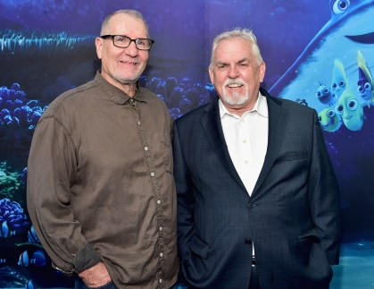 HOLLYWOOD, CA - JUNE 08: Actors Ed O'Neill (L) and John Ratzenberger attend The World Premiere of Disney-Pixar's FINDING DORY on Wednesday, June 8, 2016 in Hollywood, California. (Photo by Alberto E. Rodriguez/Getty Images for Disney) *** Local Caption *** Ed O'Neill; John Ratzenberger