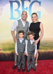 """HOLLYWOOD, CA - JUNE 21: Mixed Martial Artist Tito Ortiz (L) and Amber Nichole (R) arrive on the red carpet for the US premiere of Disney's """"The BFG,"""" directed and produced by Steven Spielberg. A giant sized crowd lined the streets of Hollywood Boulevard to see stars arrive at the El Capitan Theatre. """"The BFG"""" opens in U.S. theaters on July 1, 2016, the year that marks the 100th anniversary of Dahl's birth, at the El Capitan Theatre on June 21, 2016 in Hollywood, California. (Photo by Alberto E. Rodriguez/Getty Images for Disney) *** Local Caption *** Tito Ortiz; Amber Nichole"""