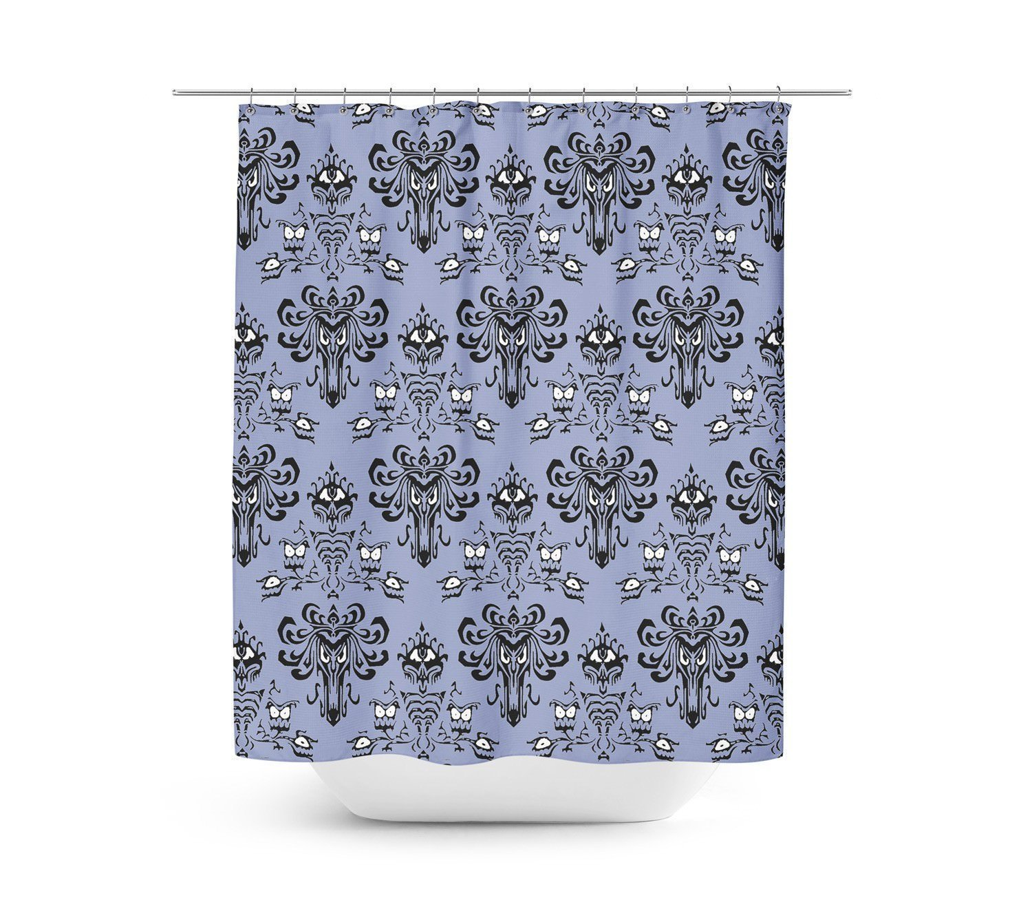 Hauntingly Beautiful Haunted Mansion Shower Curtain