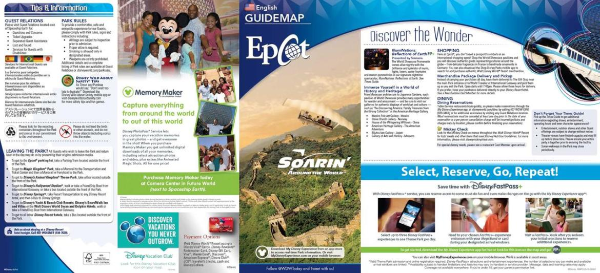New Epcot Guide Map is out now! New rides & attractions featured.