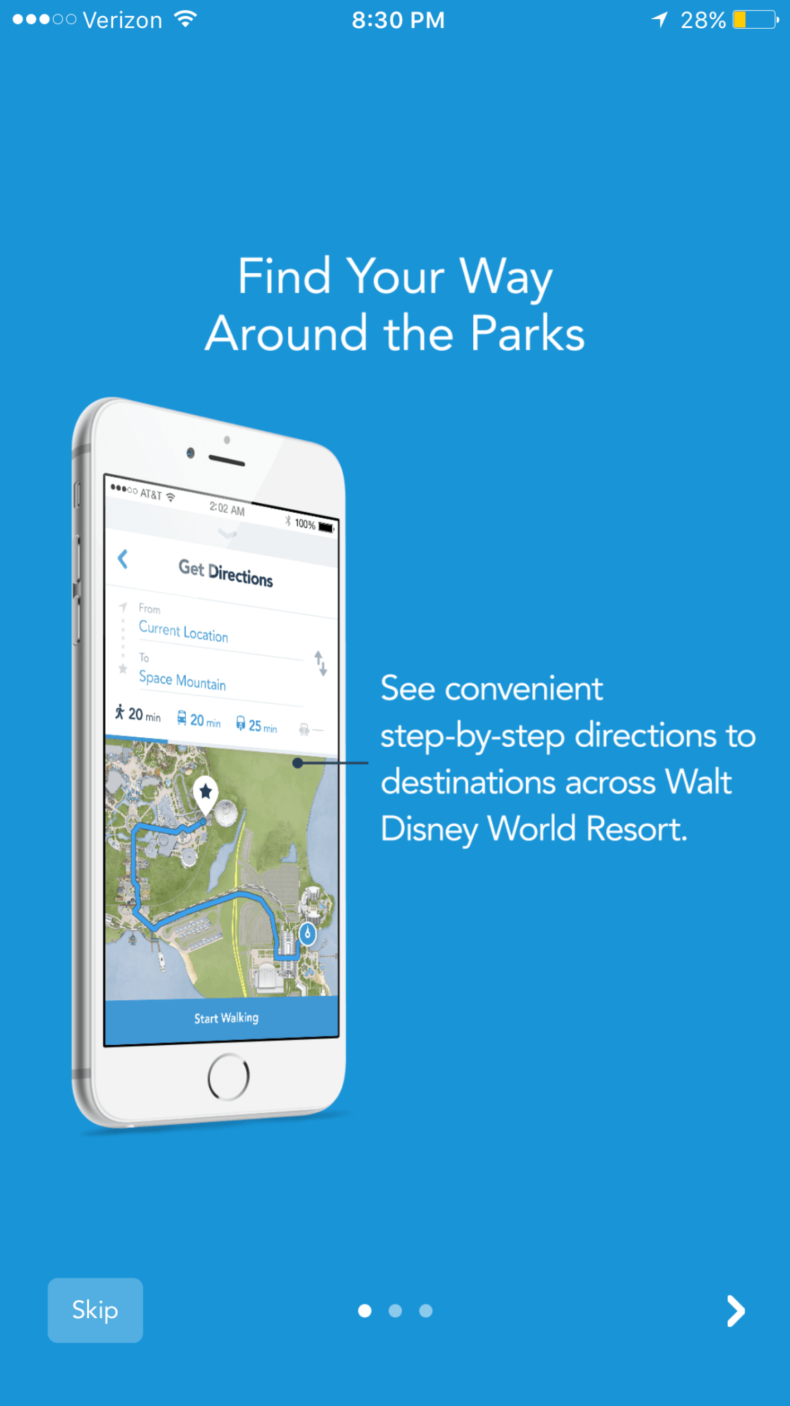 """The """"Get Directions"""" Feature is now Live on the My Disney Experience App"""