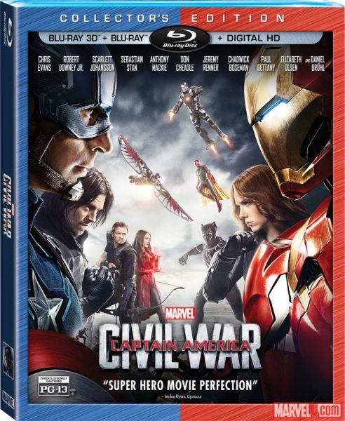 """""""Captain America: Civil War"""" Comes Out On Blu-Ray 3D"""