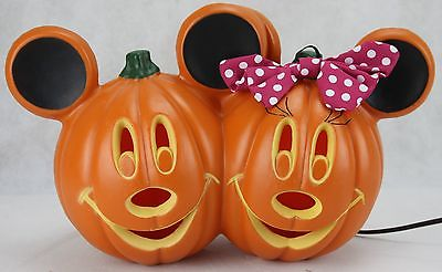 Mickey and Minnie Mouse Light Up Disney Halloween Pumpkin