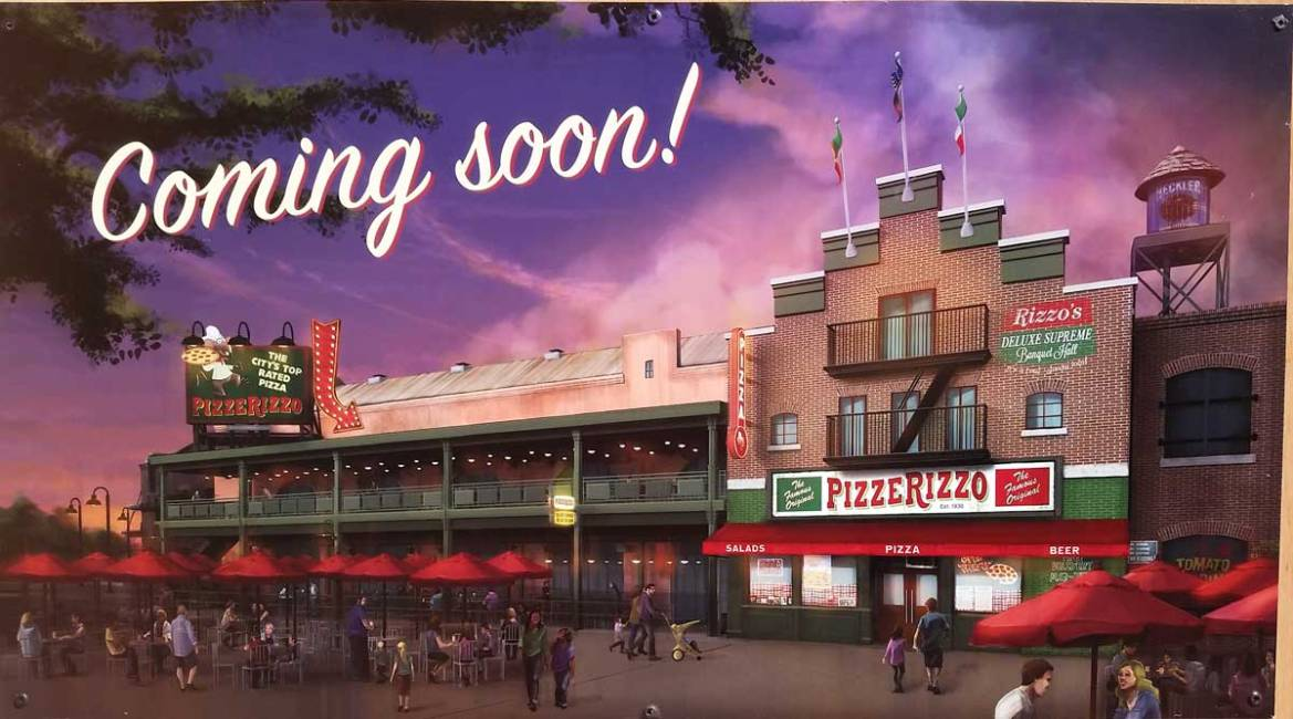 New Concept Art and Construction Update for Pizza Rizzo in Hollywood Studios