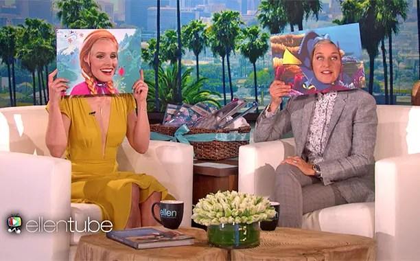 Princess Anna meets Dory on the Ellen Show!