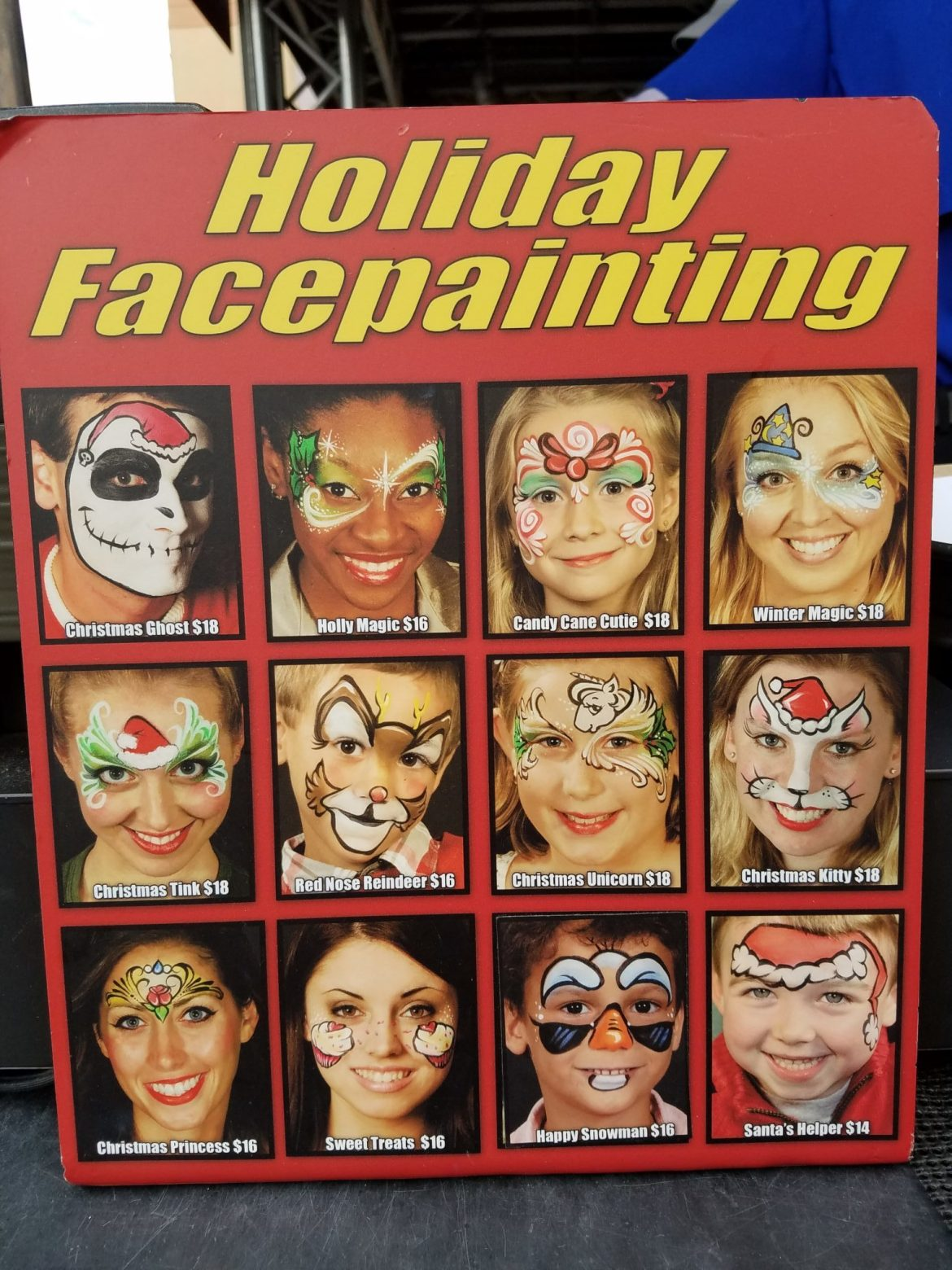 Holiday Face Painting Now Available At Disney's Hollywood Studios