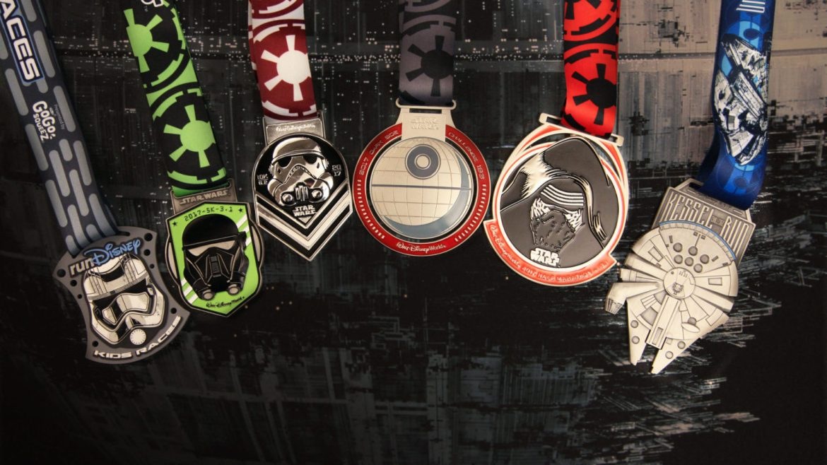 Take a Look at The Run Disney Star Wars Dark Side Race Medals