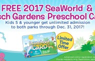 Preschool card offers free admission to SeaWorld and Busch Gardens!