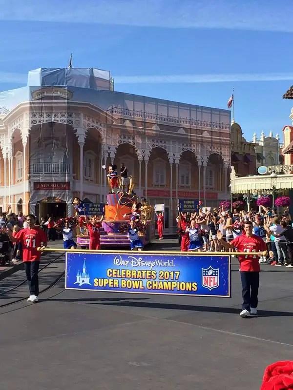Walt Disney World celebrates James White and the 2017 Super Bowl Champions