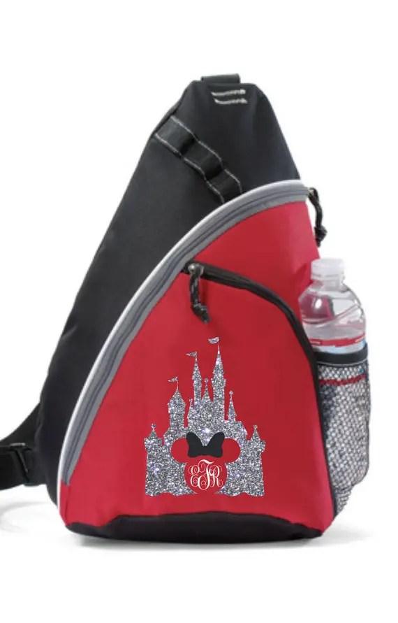 Large Sling Bag Disney World Backpack Disney Backpack LARGE SLING BAG Embroidered Disney World Sling Backpack Embroidered Backpack