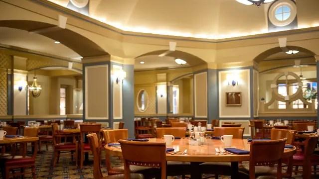 Captain's Grille Restaurant in Disney's Yacht Club Resort closing for long refurbishment