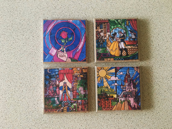 Invite Friends to Be Your Guest with Gorgeous Beauty and the Beast Coasters
