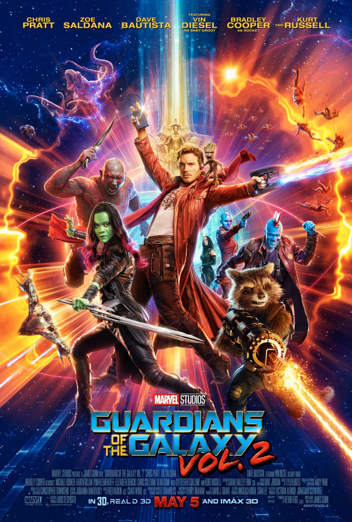 """""""Guardians Of The Galaxy Vol 2"""" Newest Poster And Trailer Released"""