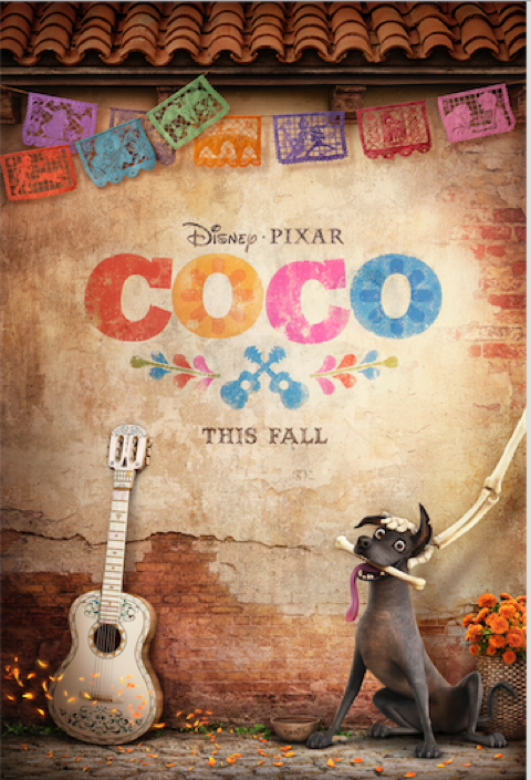 New poster for Pixar's Coco Movie