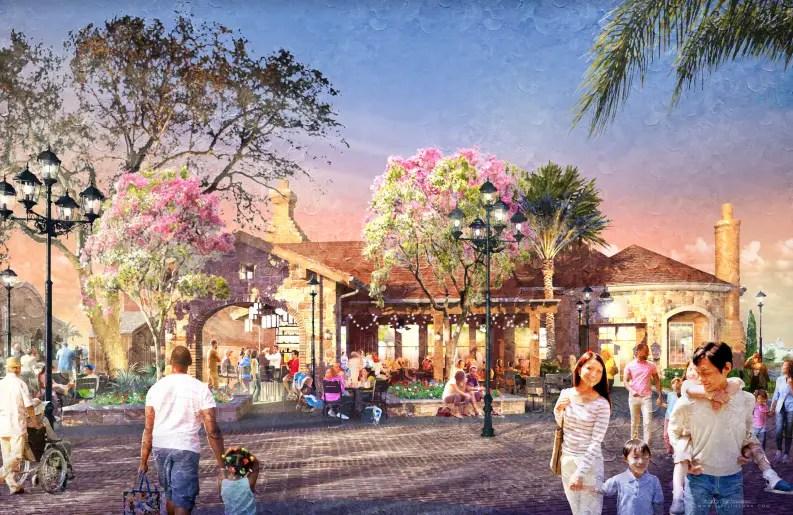 Concept art for new Restaurant to replace Portobello Country Italian Trattoria in Disney Springs
