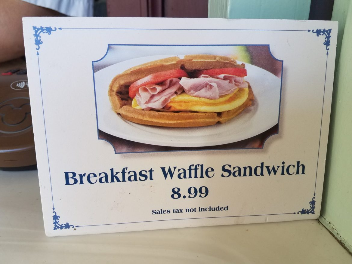 Sleepy Hollow's Breakfast Waffle Sandwich Will Fill You Up For A Magic Kingdom Tour Day