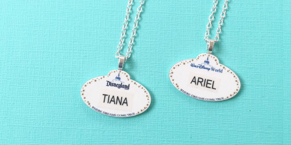 Personalized Disney Cast Member Name Tag Necklaces