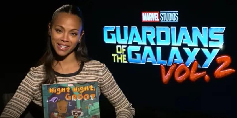 """Guardians Of The Galaxy's"" Zoe Saldana Reads D23 A Bedtime Story"