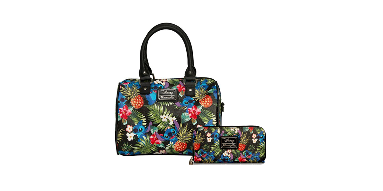 Disney Hawaiian Stitch Loungefly Cross Body Bag and Wallet