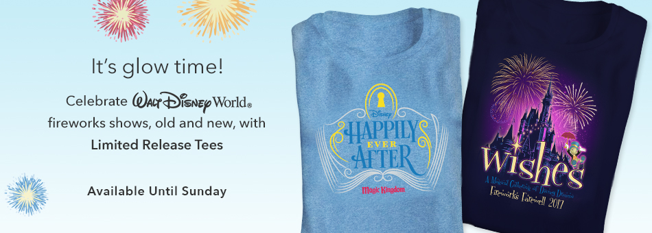 Celebrate the Magic with Limited Edition Walt Disney World Fireworks Tees