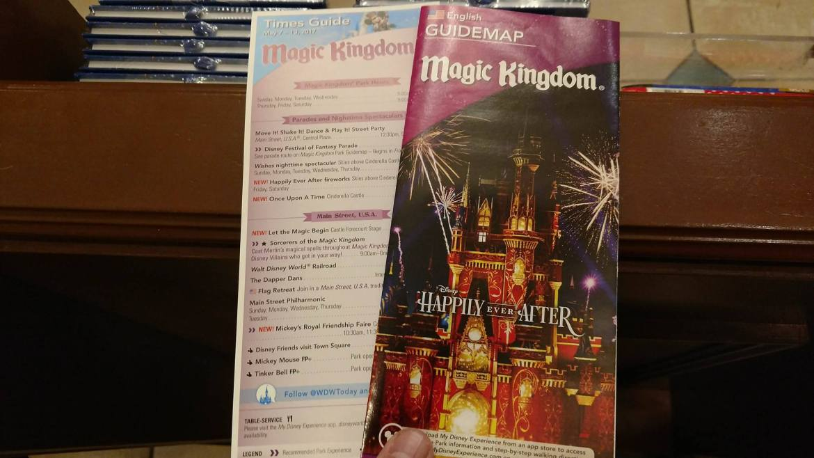 """Magic Kingdom Guidemap Now Featuring """"Happily Ever After"""" Fireworks"""