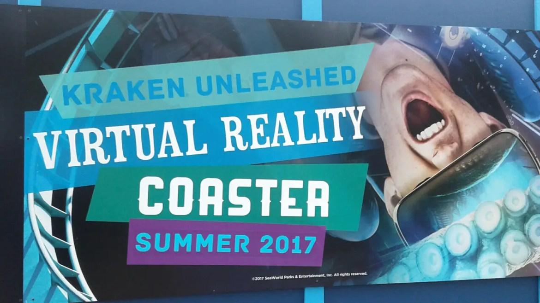 Experience 'Kraken Unleashed' Sea World Orlando