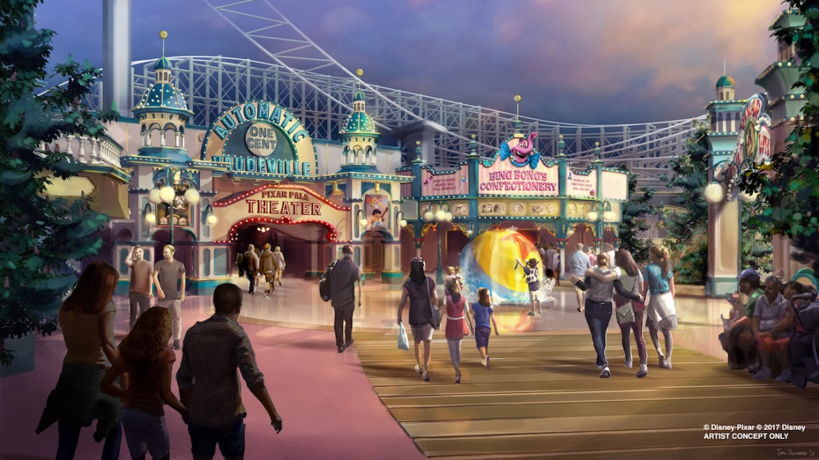 Disneyland Resort's Paradise Pier to Be Revamped as Pixar Pier in 2018