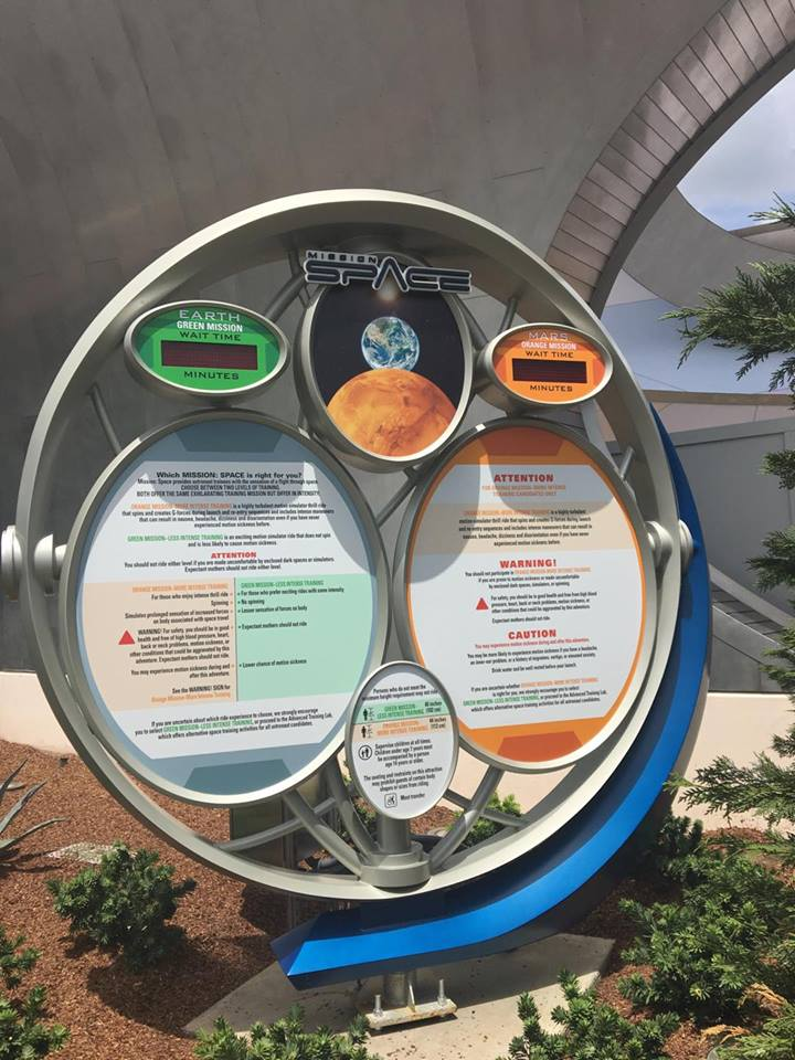 New Sign for New Missions Installed at Mission: Space