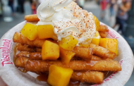 Disneyland Snack Alert - Funnel Cake Fries With Sweet Mangos and a Spicy Chile-Lime Sugar