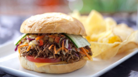 Capt. Cook's Aloha Pork Sandwich at the Polynesian Village is a Taste of the Tropics!