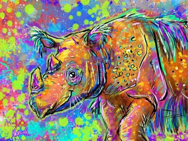 Imagineers Donate Their Personal Artwork to Help Save the Sumatran Rhino
