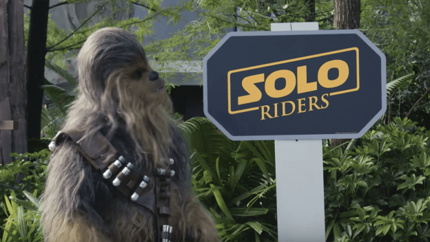 Chewbacca surprised Star Tours guests