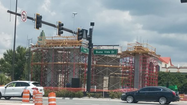 PHOTO: Construction on the Disney Spring Parking Garage Pedestrian Walkway Progresses 4