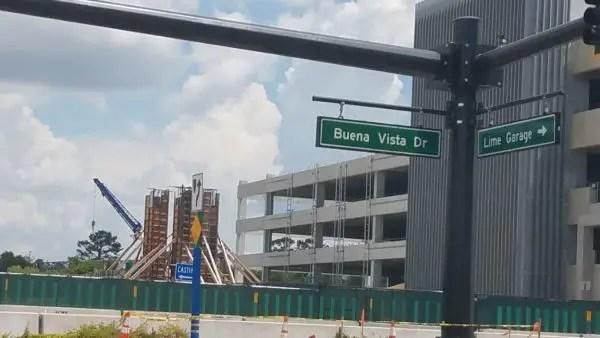 PHOTO: Construction on the Disney Spring Parking Garage Pedestrian Walkway Progresses 1