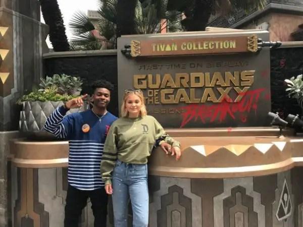 Marvel's Cloak And Dagger Stars Visit Disneyland 8