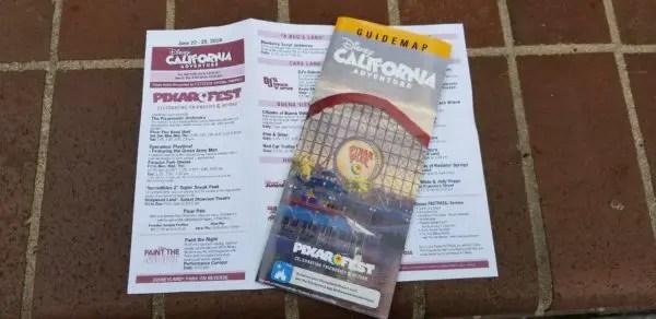 All New Disney California Adventure Park Maps Featuring Pixar Pier California Adventure Park Map on